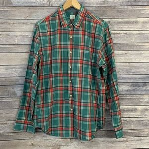 J. Crew 2 Ply Cotton Plaid Button Down
